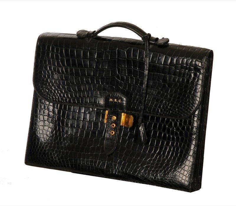 b0d59ebadd Hermes Sac a Depeche Crocodile Skin Briefcase