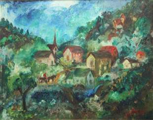 David Burliuk, Oil On Canvas