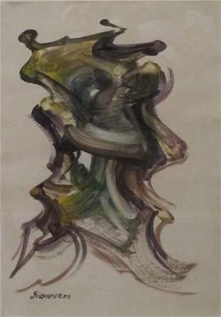 David Alfaro Siqueiros Watercolor