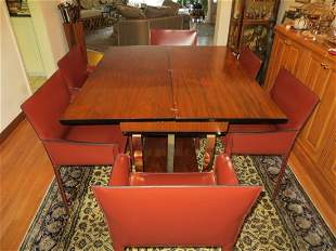An American 1970s Art Deco Revival Dining Table
