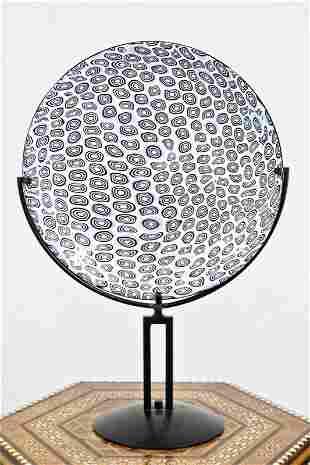 Schiavon Murano Art Glass Plate, Signed