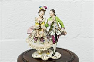 Dresden Lace Courting Couple