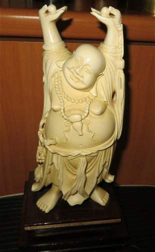 Two Ivory Carvings of the Budhai