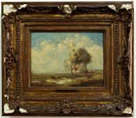 F. Daubigny. Oil on Canvas