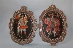 Pair of Cuzco School Spanish Colonial Religious
