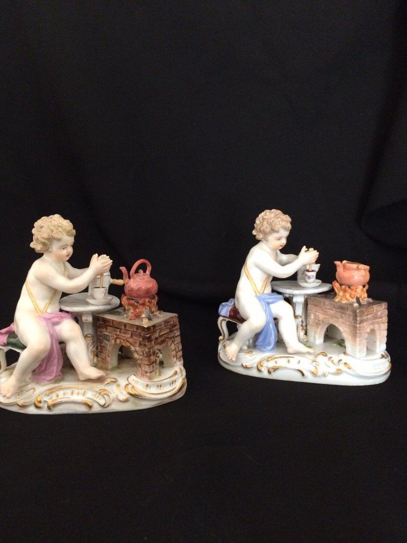 Porcelain Meissen Porcelain - Pair