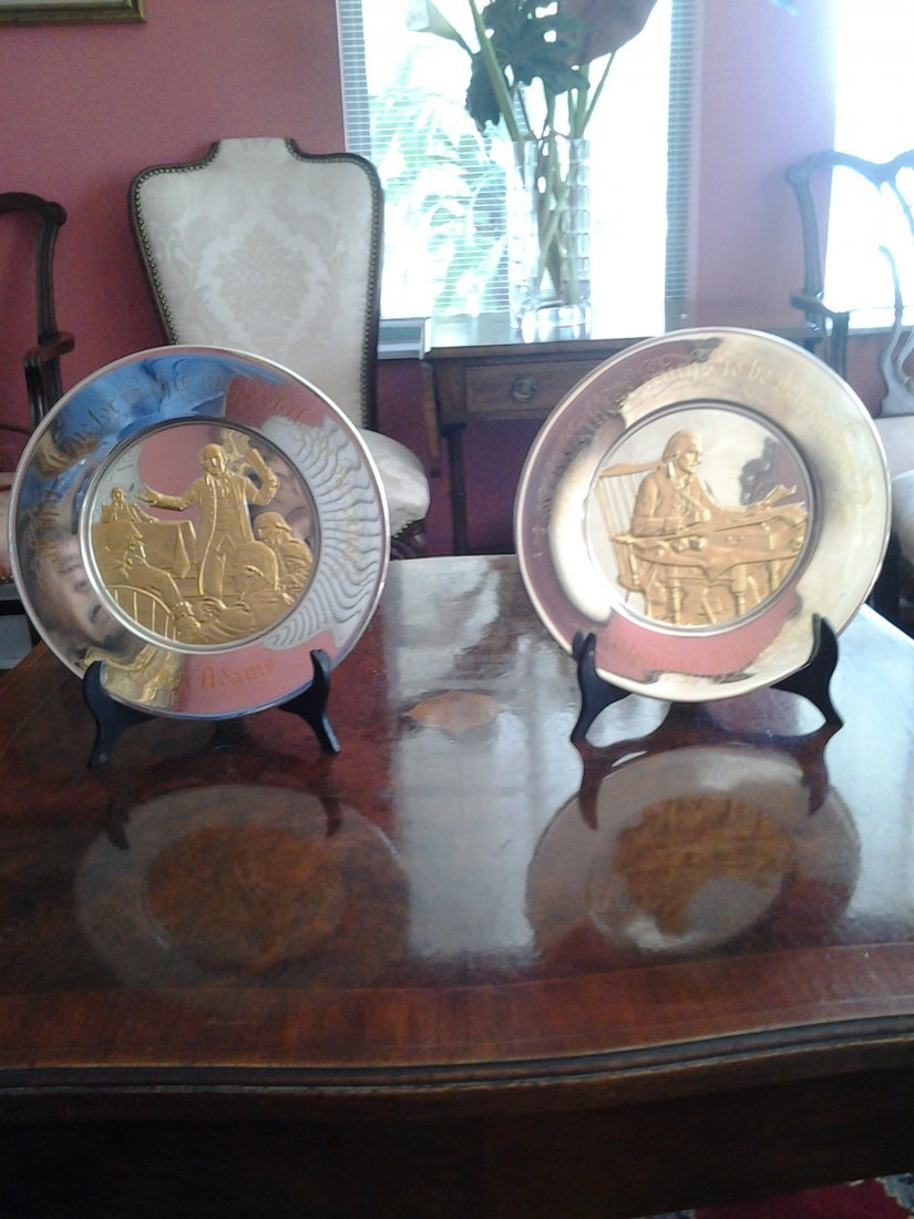 Two Official Commemorative Bicentennial Plates