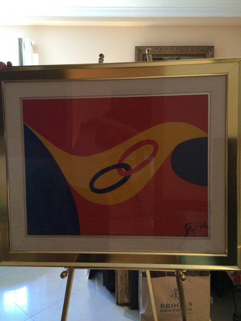 Signed Alexander Calder Lithography