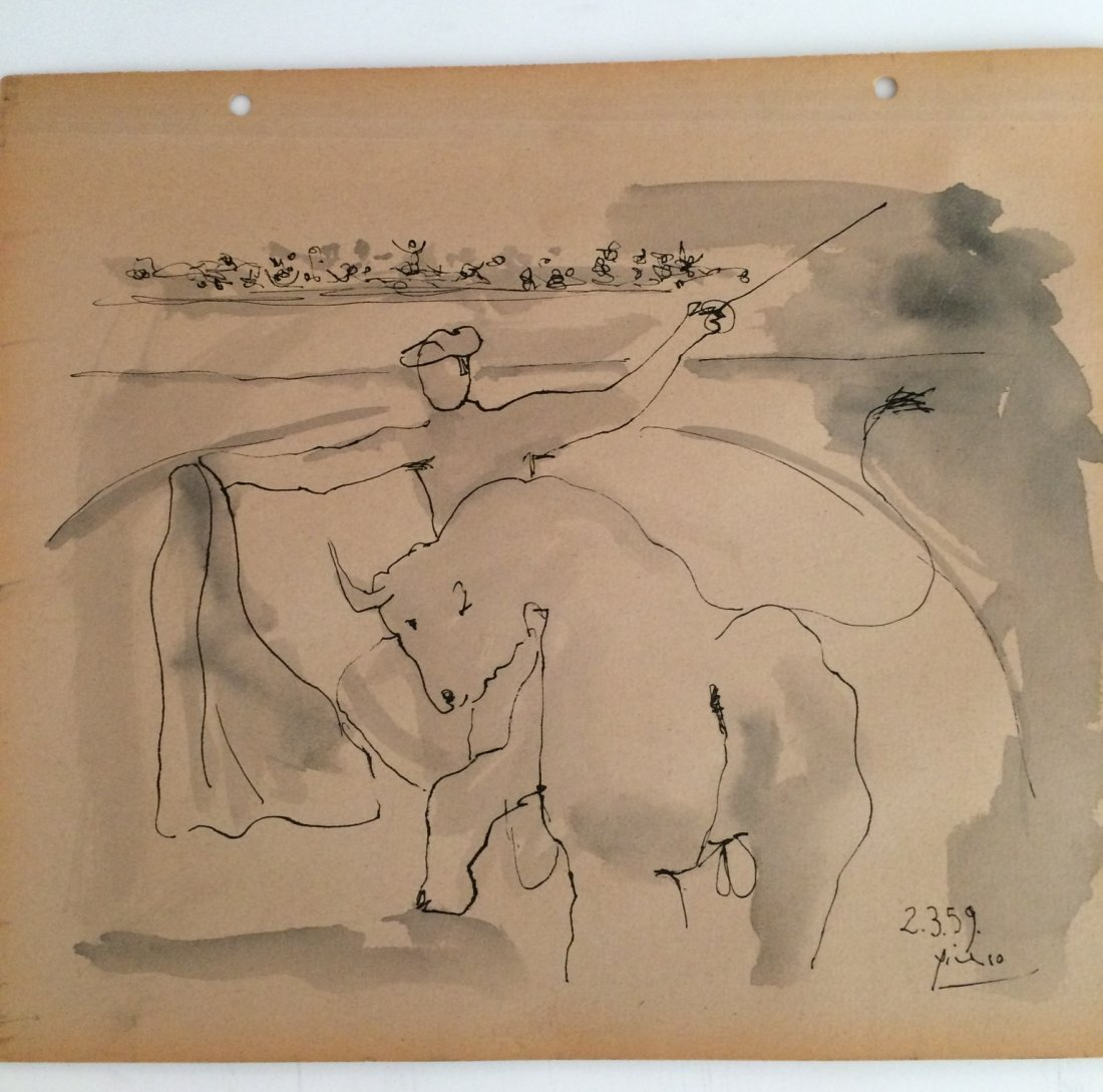 Attributed to Picasso, Ink on Paper