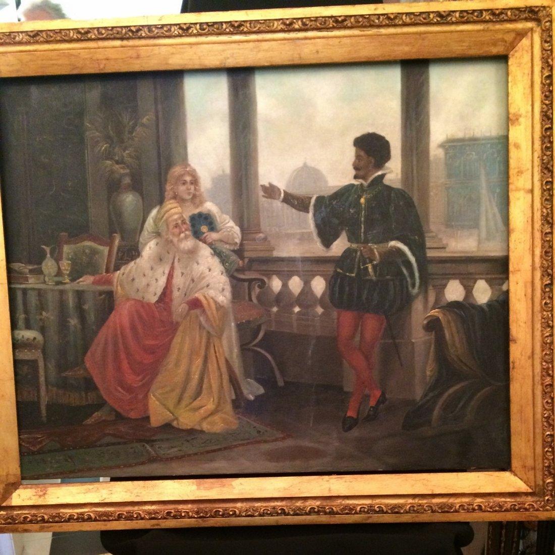 Enrico Fanfani (Attrib.), Oil on Canvas