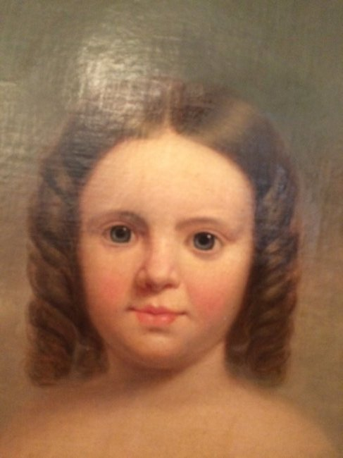 Young Girl Portrait, Oil on canvas