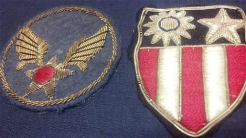 WW2 U.S. Army Air Forces Original Bullion Patch Set