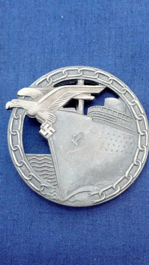 Rare Nazi WW2 Blockade Runner Badge Type 2