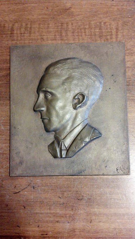Nazi Germany WW2 Brass Joeseph Goebbels Plaque Berlin