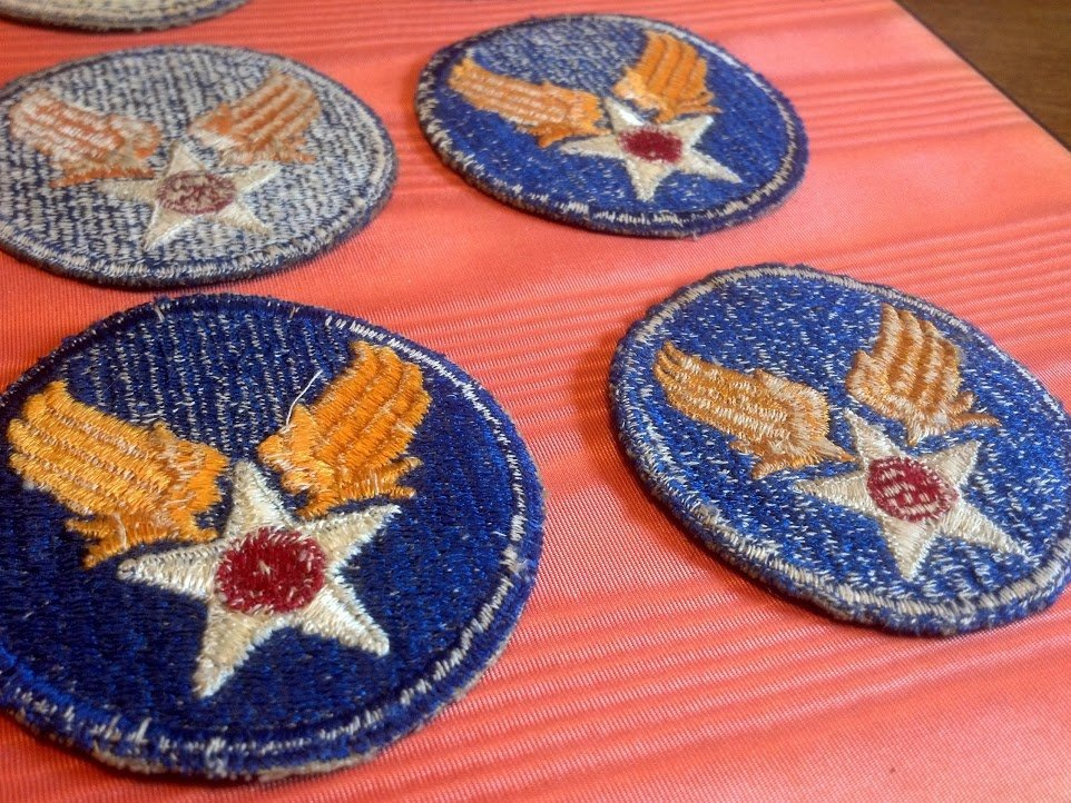 Six USAAF Army Air Corps U.S. WW2 Patches - 2