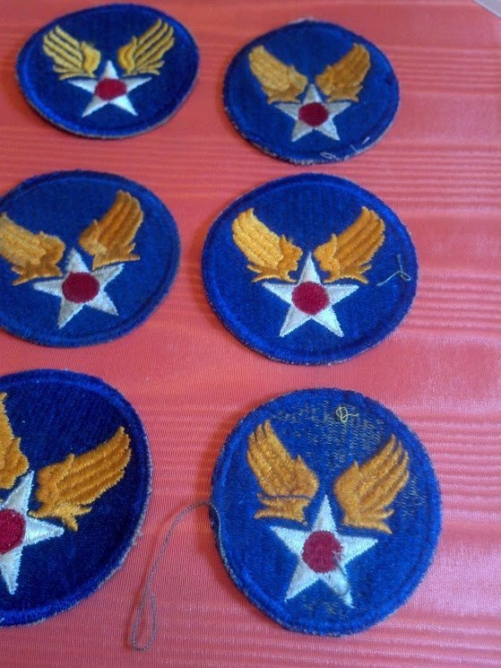 Six USAAF Army Air Corps U.S. WW2 Patches - 3