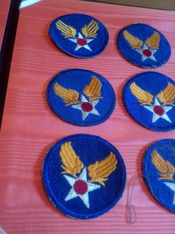 Six USAAF Army Air Corps U.S. WW2 Patches - 4