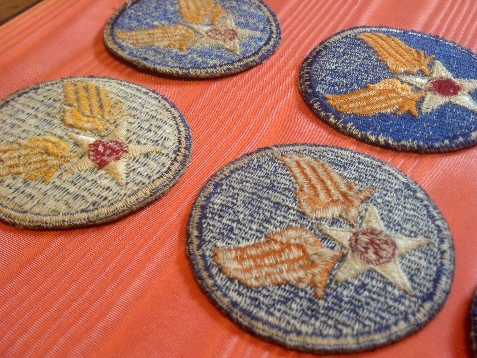 Six USAAF Army Air Corps U.S. WW2 Patches - 5