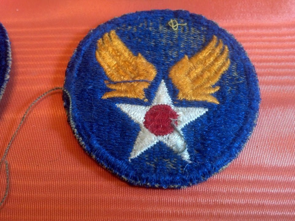 Six USAAF Army Air Corps U.S. WW2 Patches - 6
