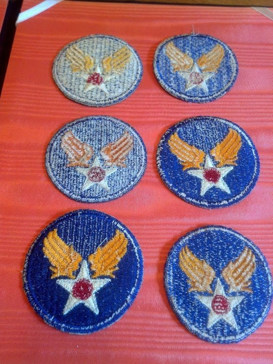 Six USAAF Army Air Corps U.S. WW2 Patches - 7