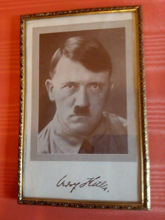 Framed Picture of Adolf Hitler from nazi Vet's Desk
