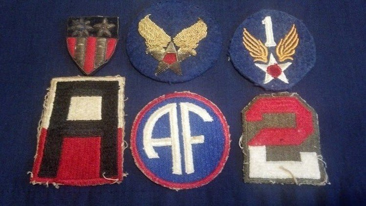 WW2 U.S. Army Air Forces Original Bullion Patch Set