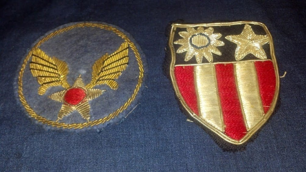 United States WW2 Army Air Corps Bullion CBI Patch Set