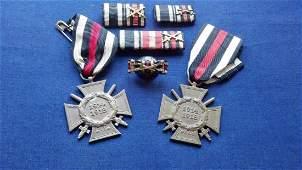 German WWI Medal Ribbon Bar Lot