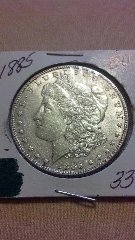 1885 Beautiful Estate Morgan Silver Dollar Brilliant!