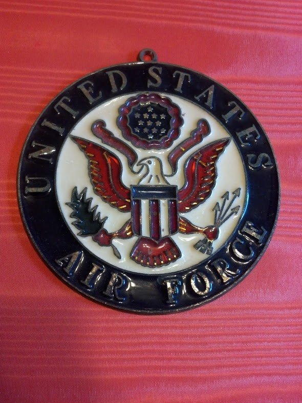 United States Air Force Stained Glass window hanger.
