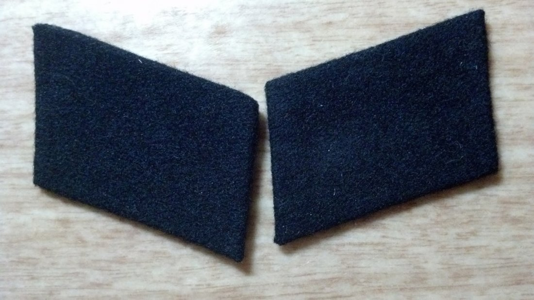 Nazi WW2 SS Officer Collar Tab pair