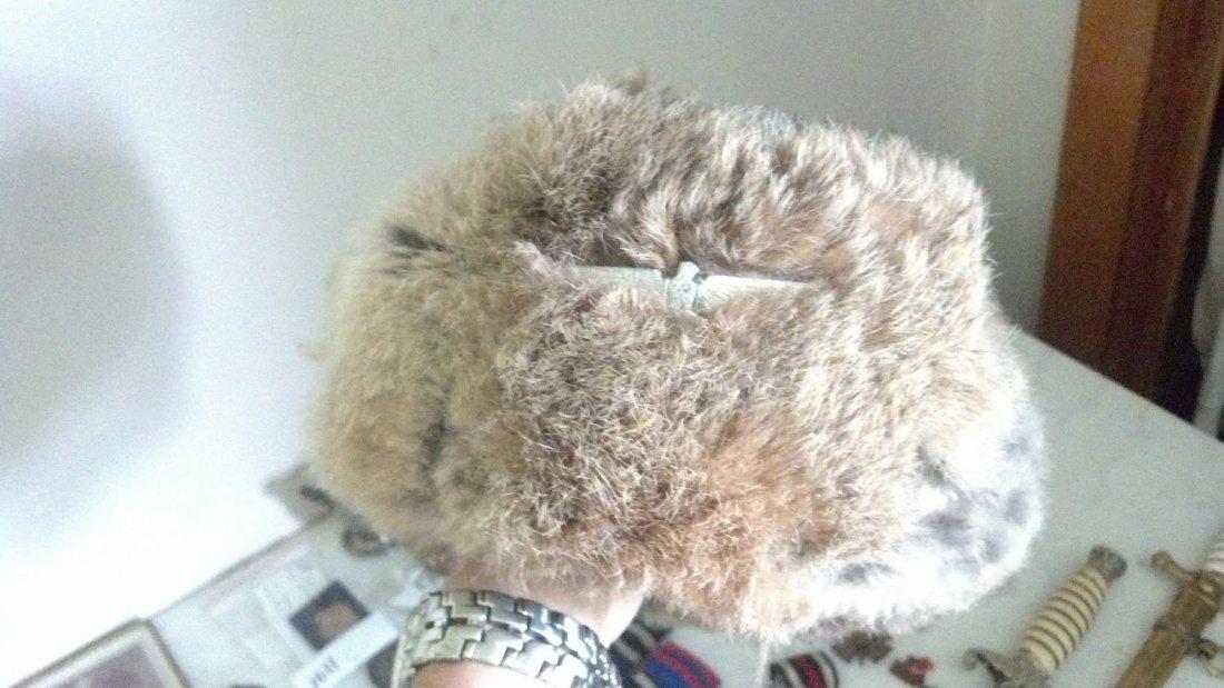 Nazi WW2 Russian Front Rabbit Fur Hat