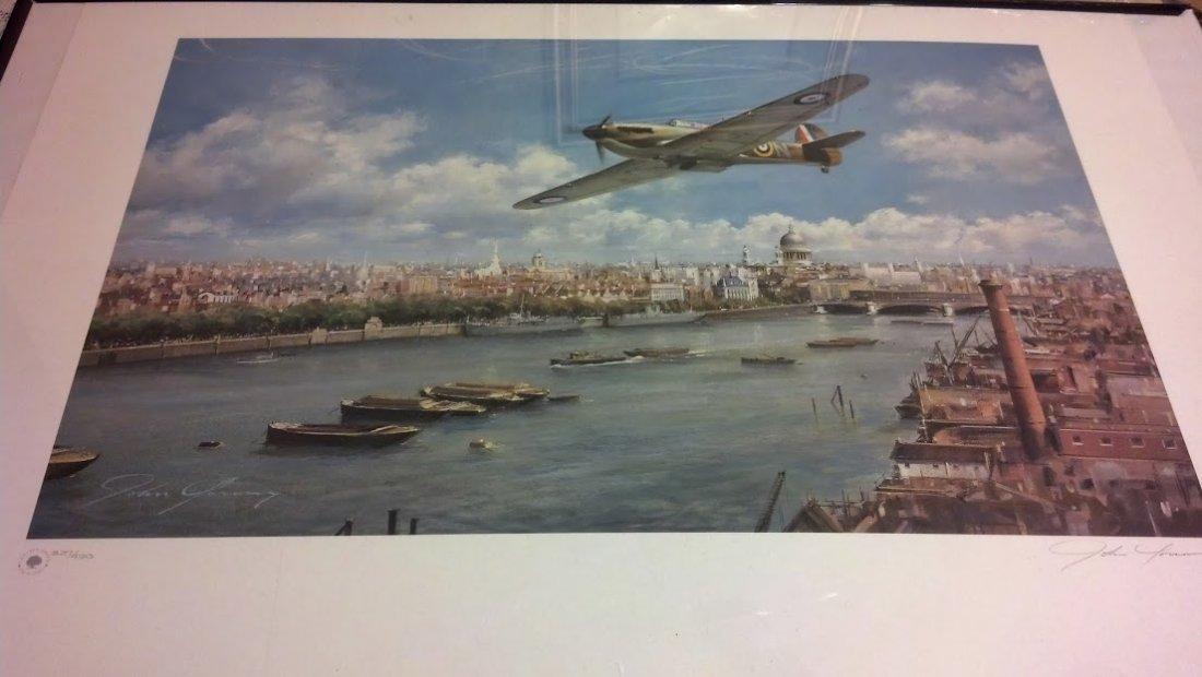 Battle of Britain Art Print stunning Hurricane Fighter