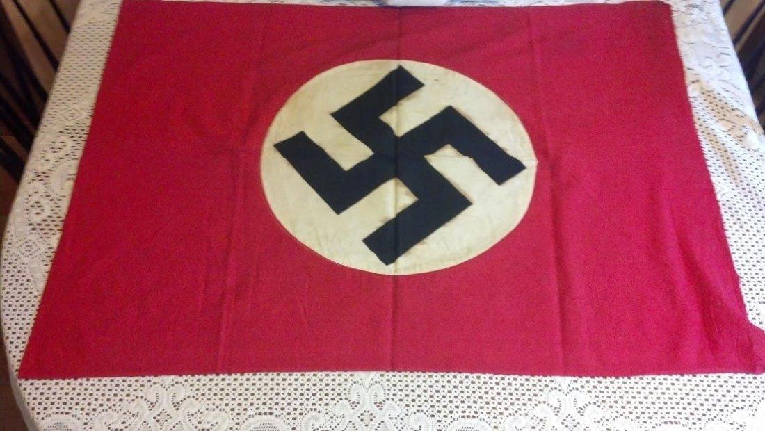 Nazi Flag Beautiful WW2 taken home by War Veteran