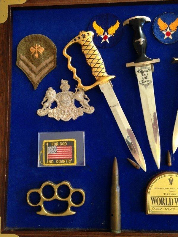 WW2 Veteran Custom Plaque Knives of World War 2 - 2