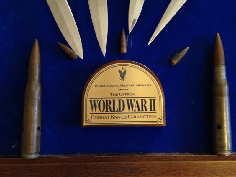 WW2 Veteran Custom Plaque Knives of World War 2 - 9