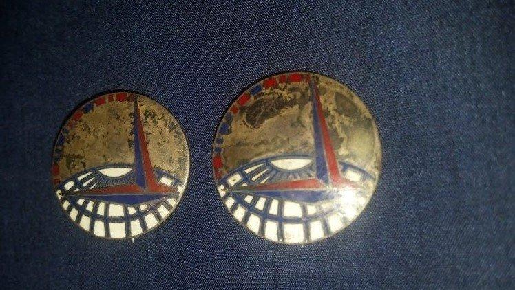 U.S. Sterling Silver RARE Command Pin Set