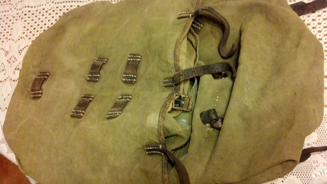 Nazi WW2 Named 1942 Backpack in Great Condition RARE