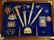 WW2 Veteran Custom Plaque Knives of World War 2