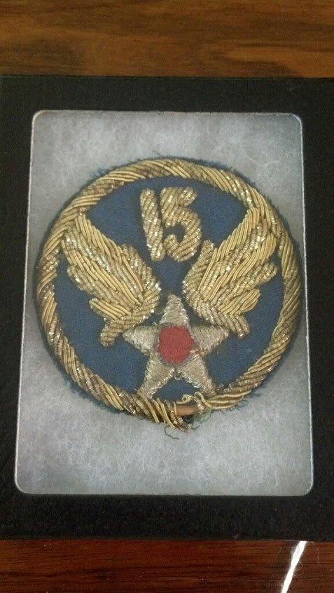 U.S. Army Air Forces WW2 Bullion Patch 15th Air Force
