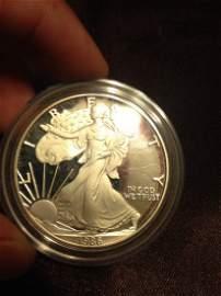 BU American Silver Eagle .999 PURE Silver Mint Proof!