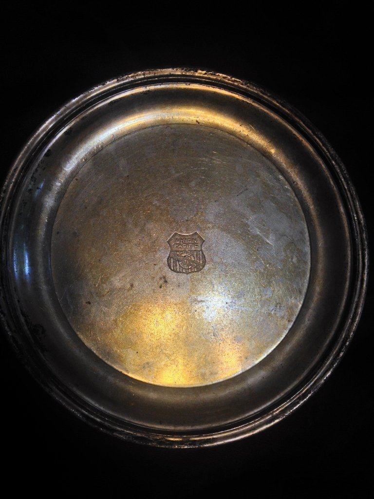 Union Pacific Silverware Plate from Early 1900s Silver