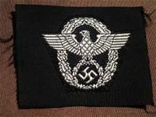 Nazi WW2 SS German Police Officer Cloth Insignia
