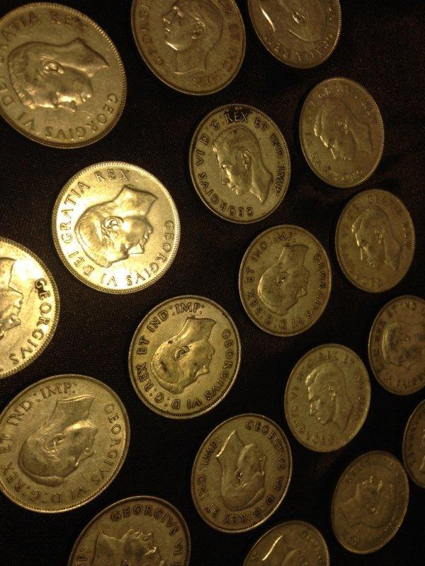 20 Silver Canadian Half Dollar Wartime Dates Rare! - 3