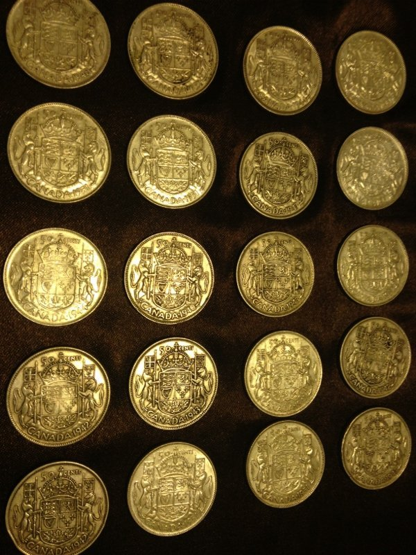 20 Silver Canadian Half Dollar Wartime Dates Rare! - 4