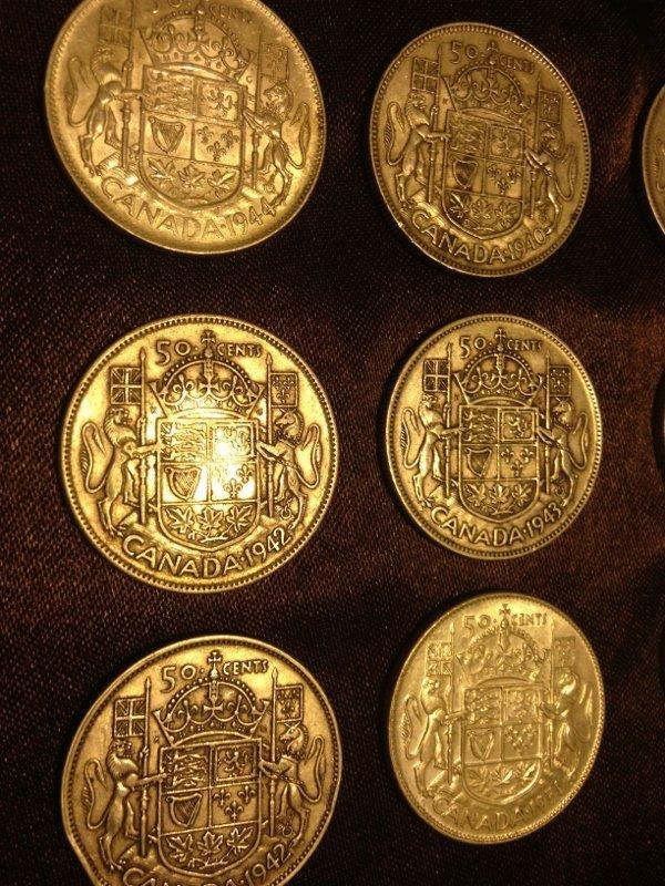 20 Silver Canadian Half Dollar Wartime Dates Rare! - 5