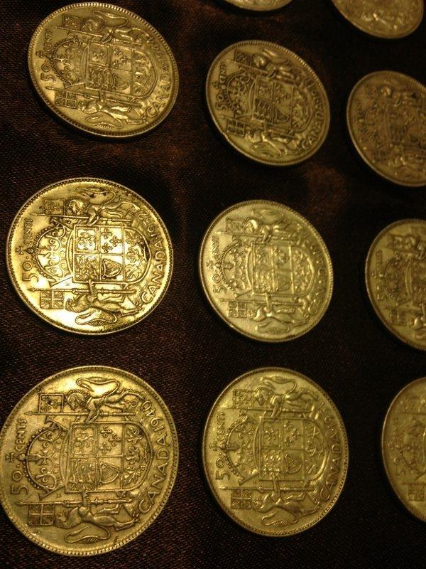 20 Silver Canadian Half Dollar Wartime Dates Rare! - 6