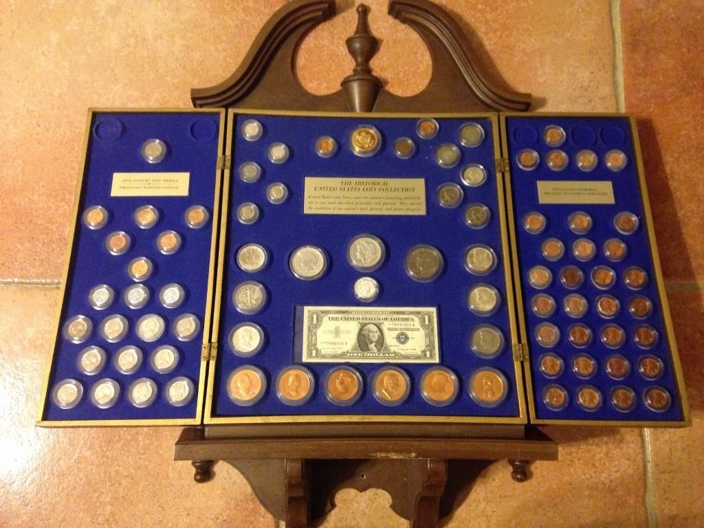 U.S. Coin Collection Cabinet Case RARE one of a Kind