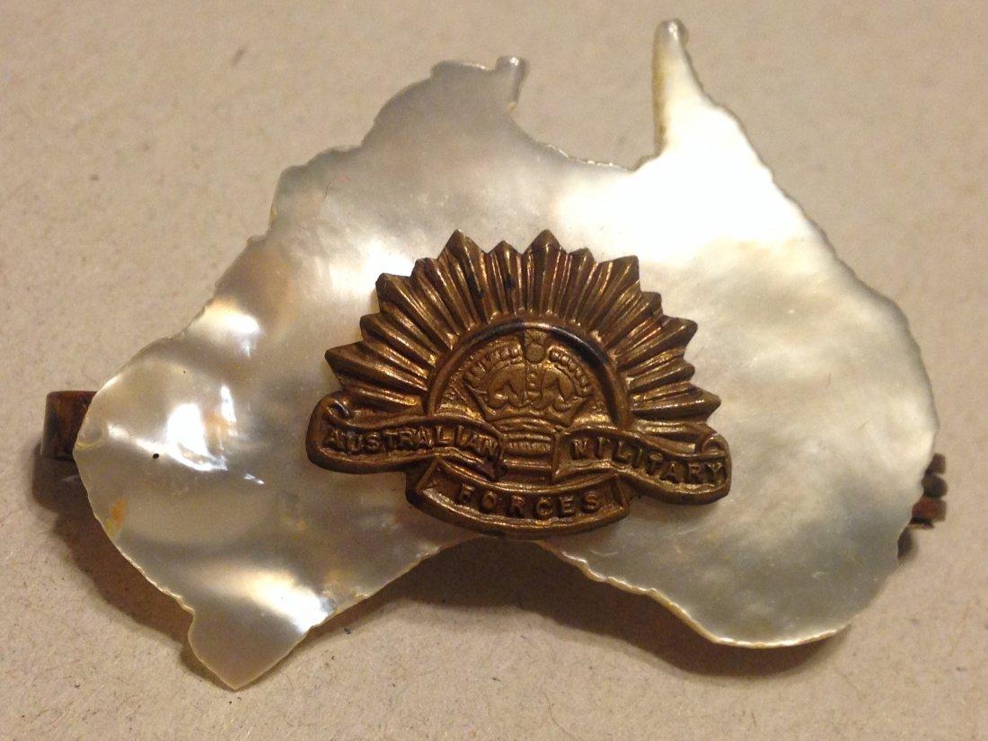 WW2 Era Australia Service Medal Mother of Pearl NICE!