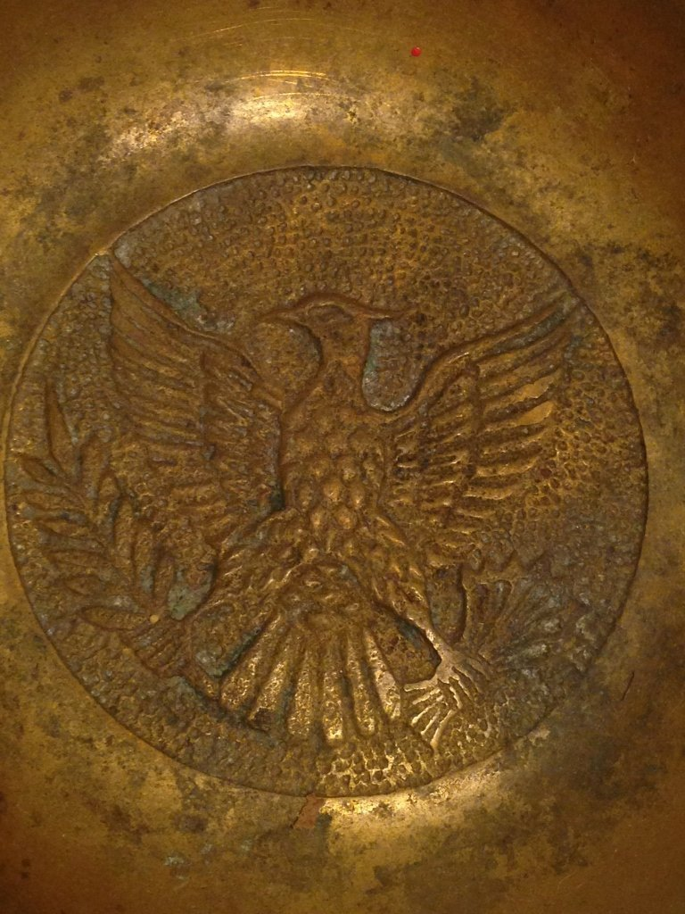Brass Early Style U.S. Federal Eagle Ash Tray pre WWI